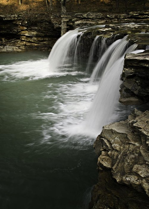 Arkansas Greeting Card featuring the photograph 0804-0013 Falling Water Falls 4 by Randy Forrester