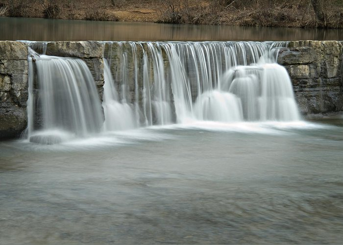 Arkansas Greeting Card featuring the photograph 0902-7025 Natural Dam 3 by Randy Forrester