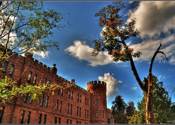 Greeting Card featuring the photograph 002 The 74th Regimental Armory In Buffalo New York by Michael Frank Jr