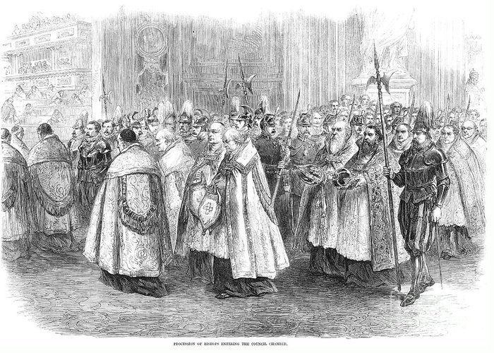 1869 Greeting Card featuring the photograph 1st Vatican Council, 1869 by Granger