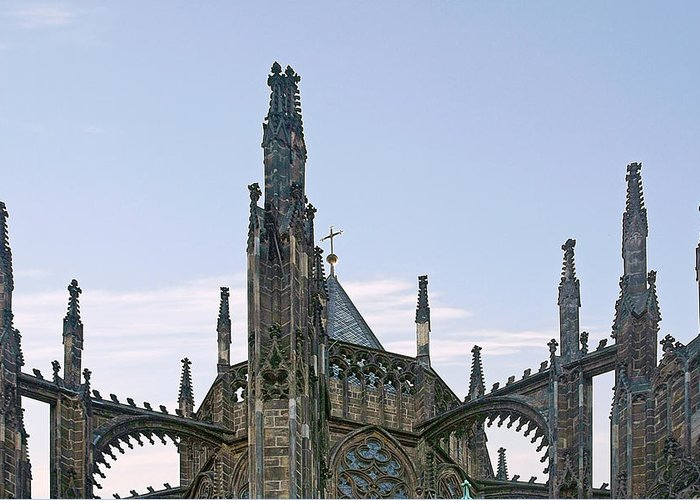 Vitus Greeting Card featuring the photograph A Forest Of Spires - St Vitus Cathedral Prague by Christine Till