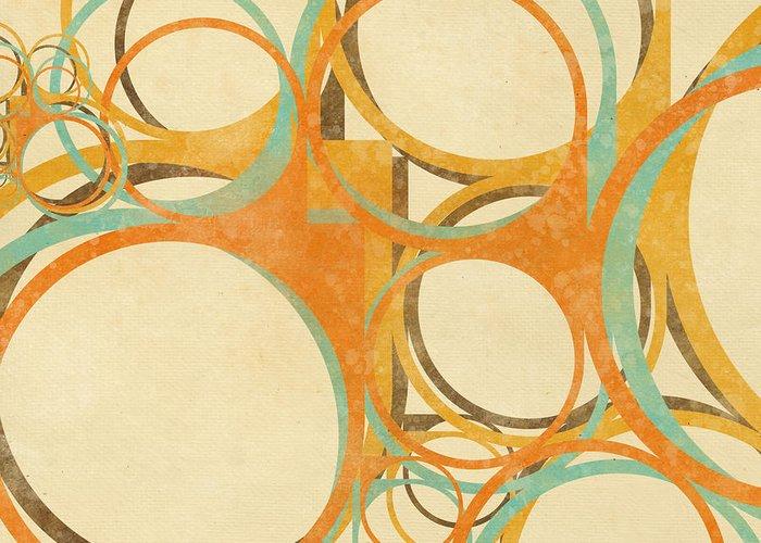 Art Greeting Card featuring the painting Abstract Circle by Setsiri Silapasuwanchai