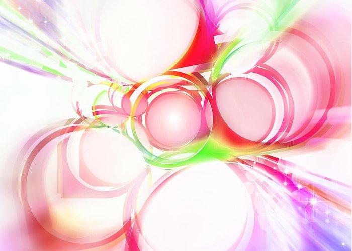 Rainbow Greeting Card featuring the painting Abstract Of Circle by Setsiri Silapasuwanchai