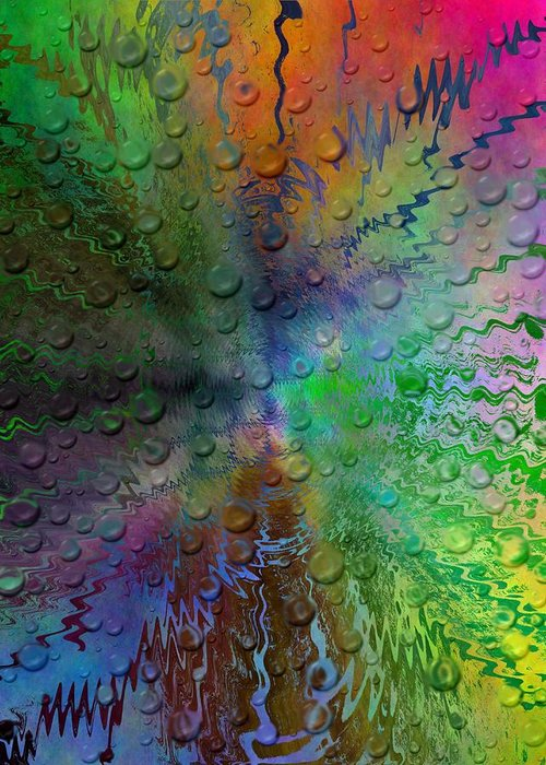 Abstract Greeting Card featuring the digital art After The Rain 2 by Tim Allen