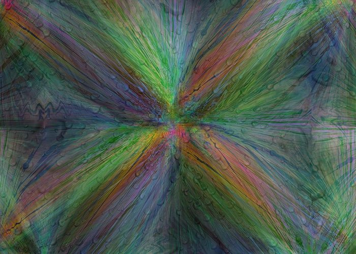 Abstract Greeting Card featuring the digital art After The Rain 3 by Tim Allen