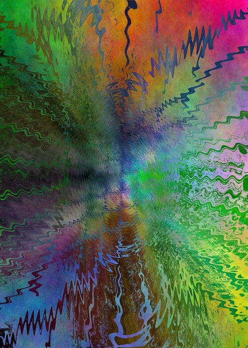 Abstract Greeting Card featuring the digital art After The Rain by Tim Allen