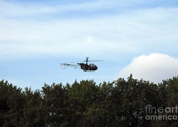 Air Component Greeting Card featuring the photograph Alouette II Of The Belgian Army by Luc De Jaeger