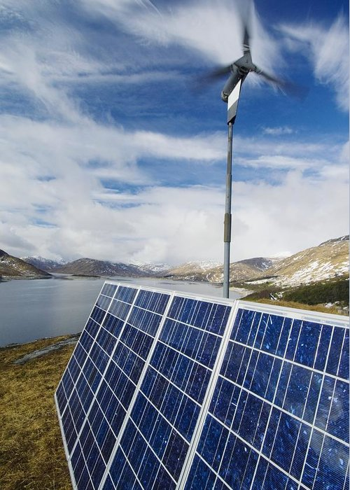Equipment Greeting Card featuring the photograph Alternative Energy Sources by Duncan Shaw