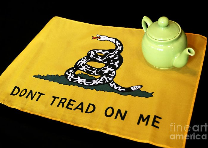 Tea Party Greeting Card featuring the photograph American Tea Party by John Van Decker