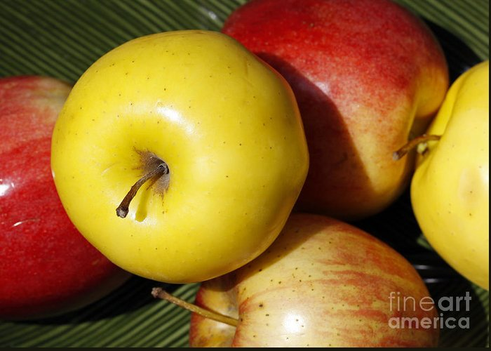 Apples Greeting Card featuring the photograph An Apple A Day by Denise Pohl