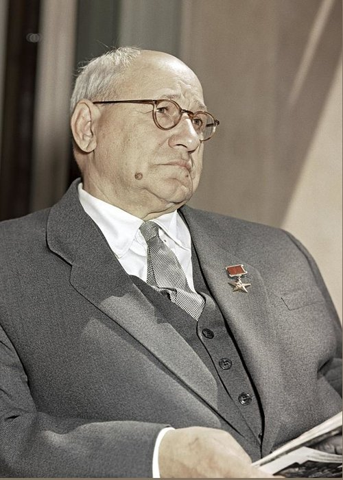Andrei Tupolev Greeting Card featuring the photograph Andrei Tupolev, Soviet Aircraft Designer by Ria Novosti