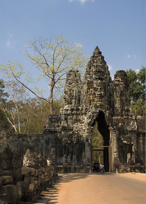 Ancient Greeting Card featuring the photograph Angkor Thom by Gloria & Richard Maschmeyer