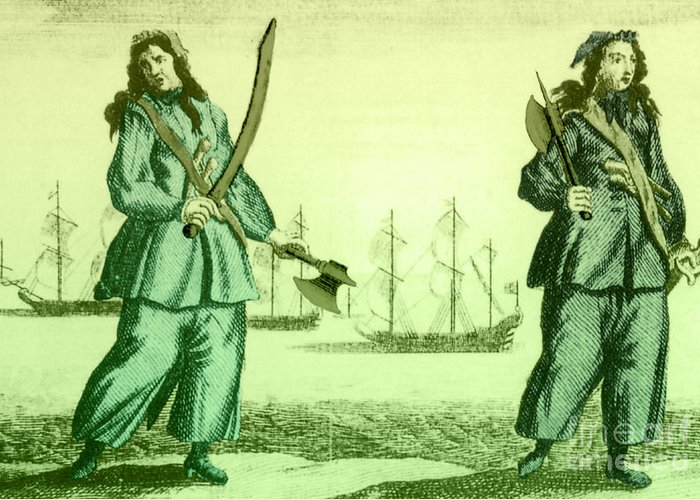 History Greeting Card featuring the photograph Anne Bonny And Mary Read, 18th Century by Photo Researchers