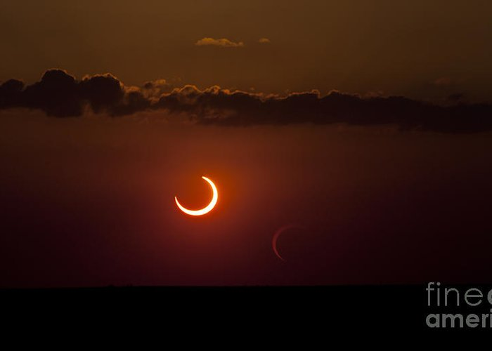 Natural Phenomenon Greeting Card featuring the photograph Annular Solar Eclipse by Phillip Jones