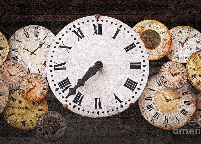 Clock Greeting Card featuring the photograph Antique Clocks by Elena Elisseeva