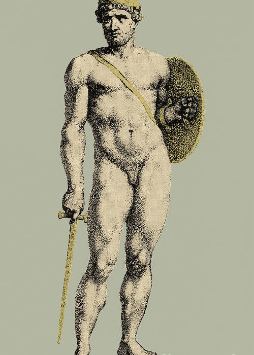 History Greeting Card featuring the photograph Ares, Greek God Of War by Photo Researchers