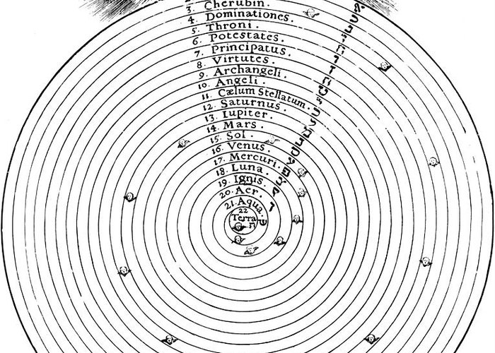 History Greeting Card featuring the photograph Aristotlelian And Christian Cosmologies by Science Source