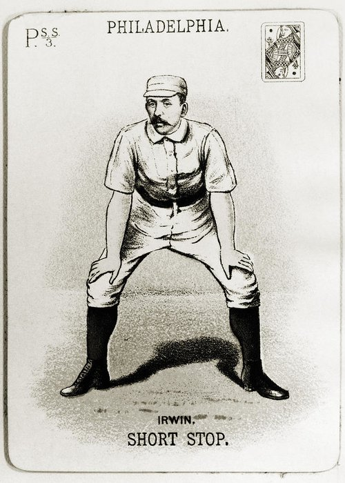 1888 Greeting Card featuring the photograph Arthur Irwin (1858-1921) by Granger