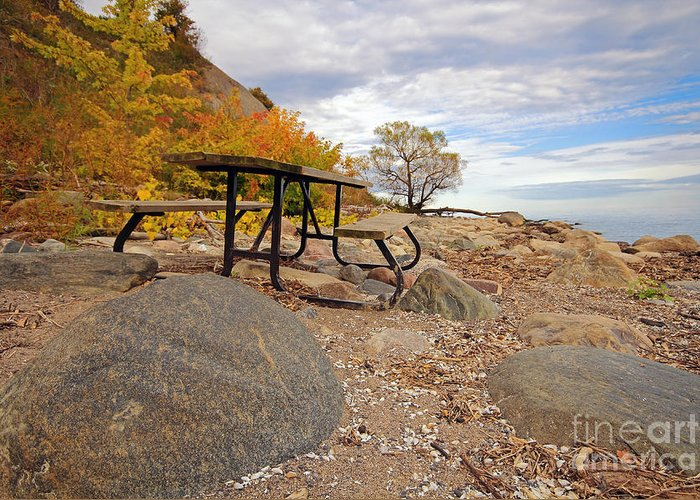 Ontario Greeting Card featuring the photograph Autumn Beach by Charline Xia