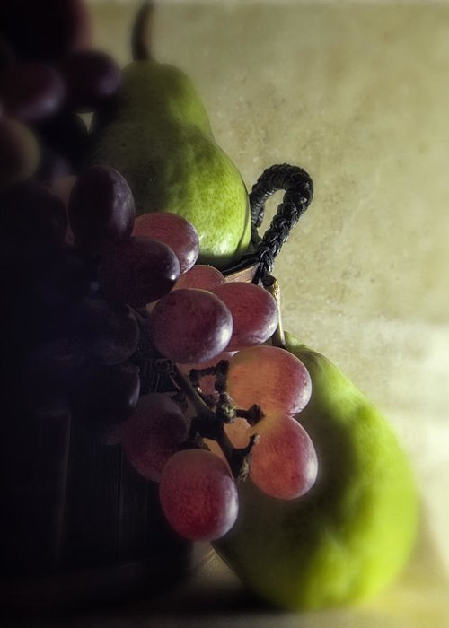 Fruit Greeting Card featuring the photograph Back Lit Grape Still Life by Andrew Soundarajan