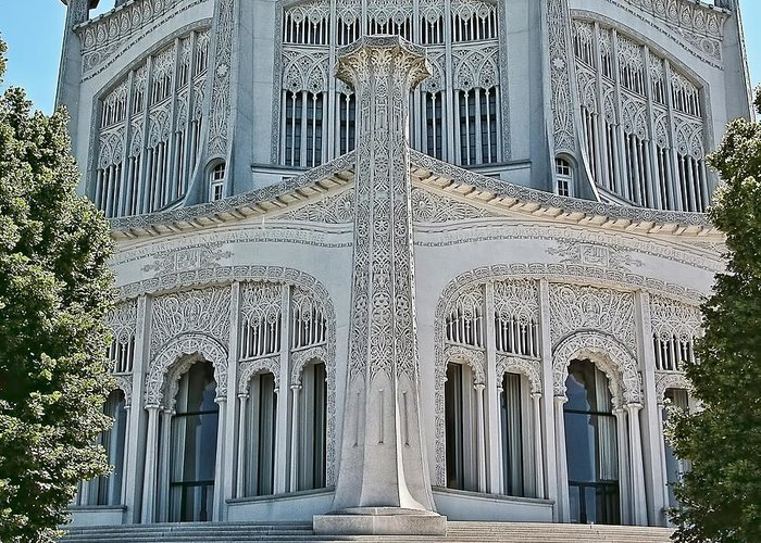 Architecture Greeting Card featuring the photograph Bahai Temple Wilmette by Rudy Umans