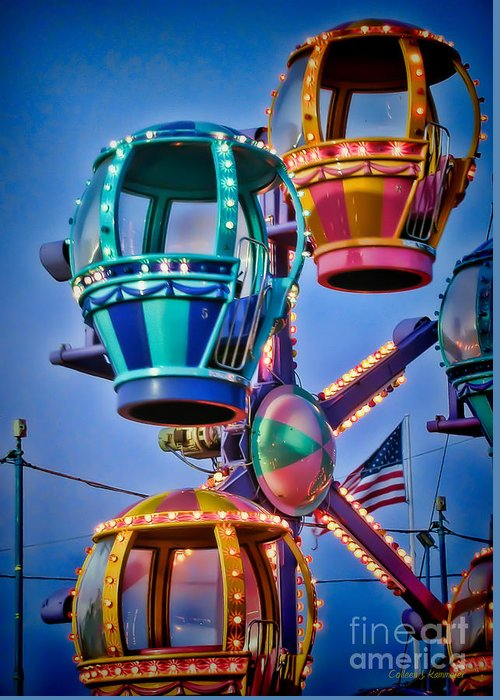 Rides Greeting Card featuring the photograph Balloon Ride No. 5 by Colleen Kammerer