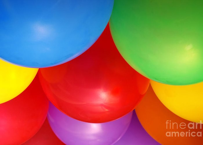 Background Greeting Card featuring the photograph Balloons Background by Carlos Caetano