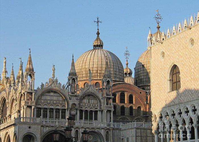 Dome Greeting Card featuring the photograph Basilica San Marco by Bernard Jaubert