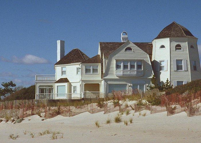 Beach Greeting Card featuring the photograph Beach House by Mark Greenberg