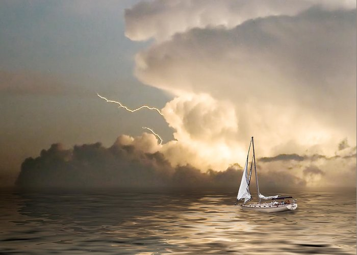Storm Greeting Card featuring the photograph Before The Storm by Stephen Warren