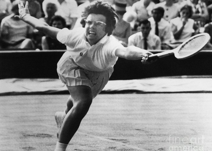 1965 Greeting Card featuring the photograph Billie Jean King (1943- ) by Granger