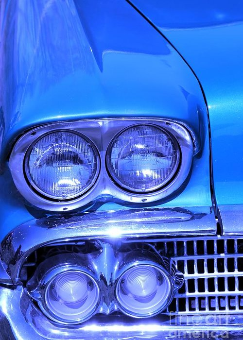 Blue Chevrolet Greeting Cards
