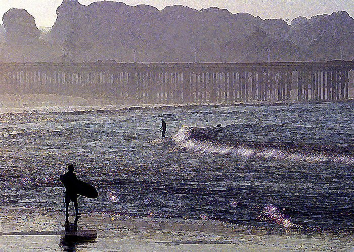 Ventura Greeting Card featuring the photograph Bringing It Into Shore by Ron Regalado