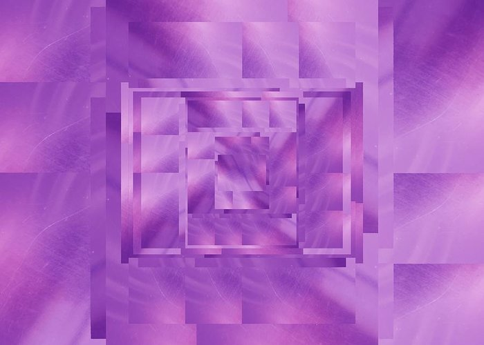 Abstract Greeting Card featuring the digital art Brushed Purple Violet 11 by Tim Allen