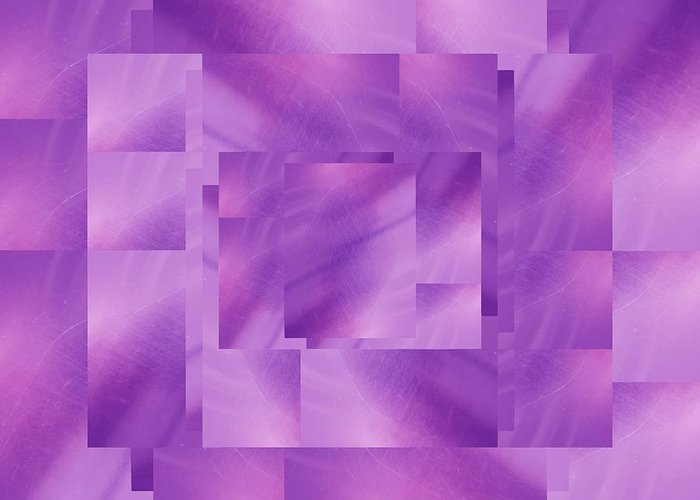 Abstract Greeting Card featuring the digital art Brushed Purple Violet 3 by Tim Allen