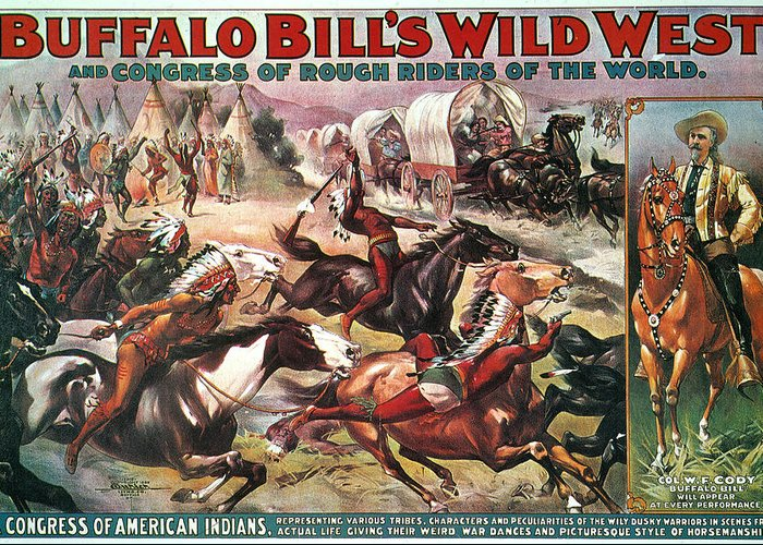 1890s Greeting Card featuring the photograph Buffalo Bills Show by Granger