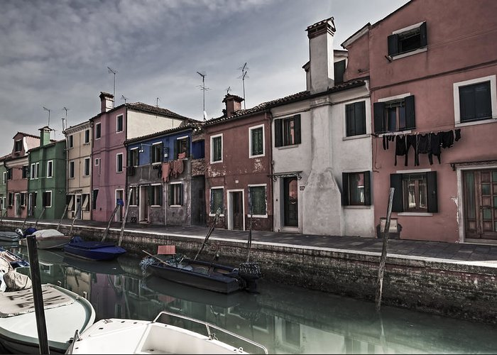 Architecture Greeting Card featuring the photograph Burano - Venice - Italy by Joana Kruse