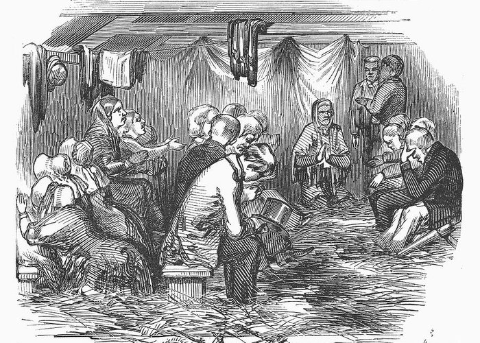 1852 Greeting Card featuring the photograph Camp Meeting, 1852 by Granger