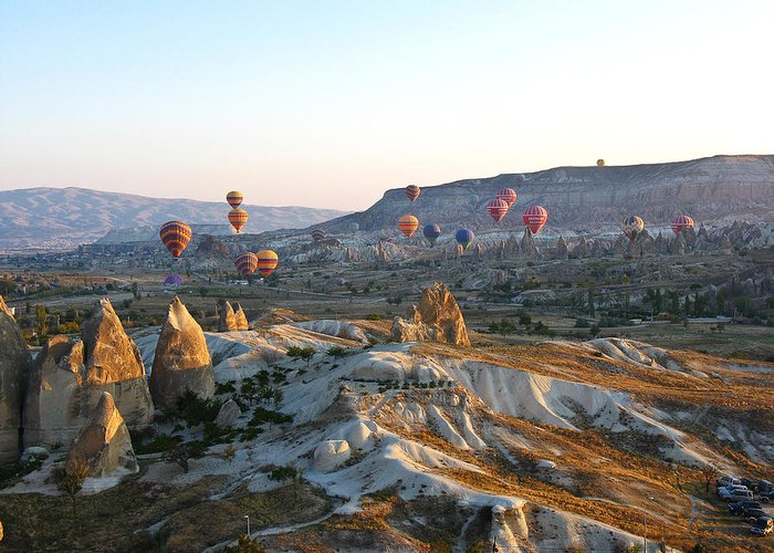 Landscape Greeting Card featuring the photograph Cappadocia Turkey by Ian Stevenson