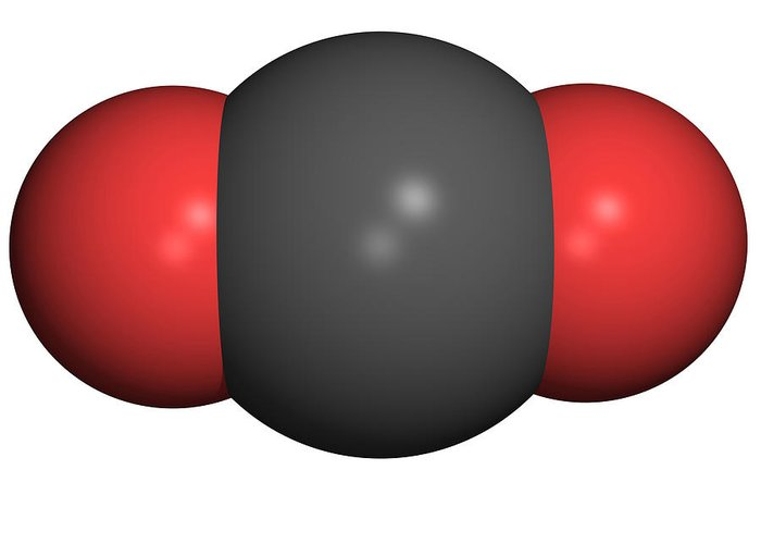 Carbon Dioxide Greeting Card featuring the photograph Carbon Dioxide Molecule by Friedrich Saurer