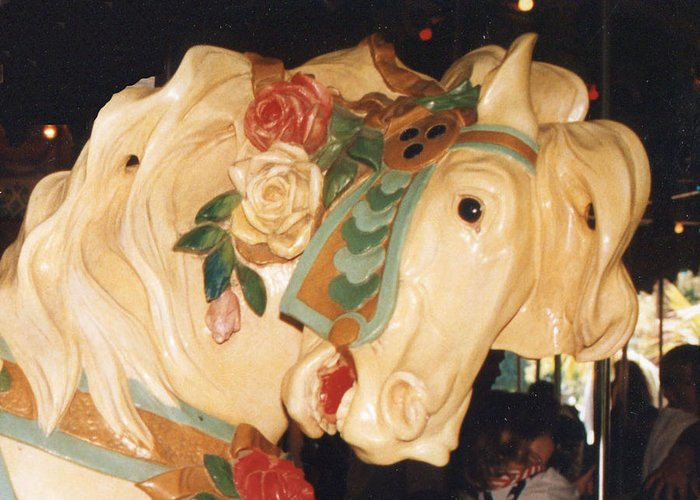 Carousel Greeting Card featuring the photograph Carousel by Phyllis Britton