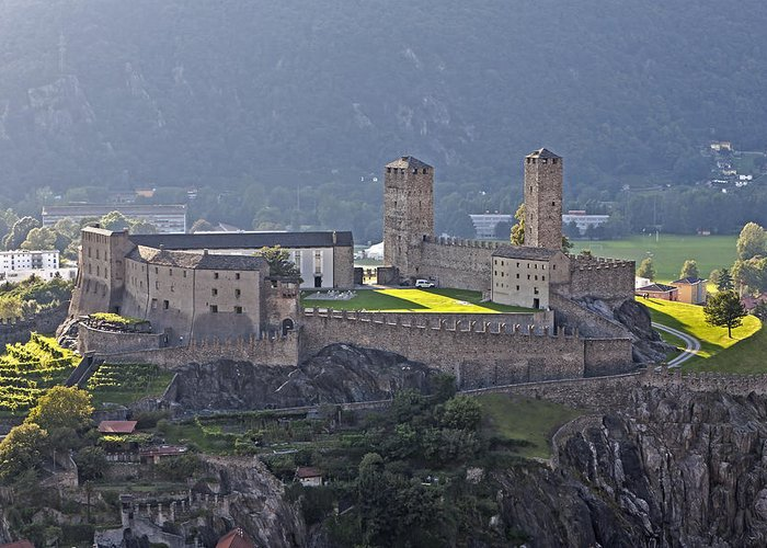Bellinzona Greeting Card featuring the photograph Castel Grande - Bellinzona by Joana Kruse