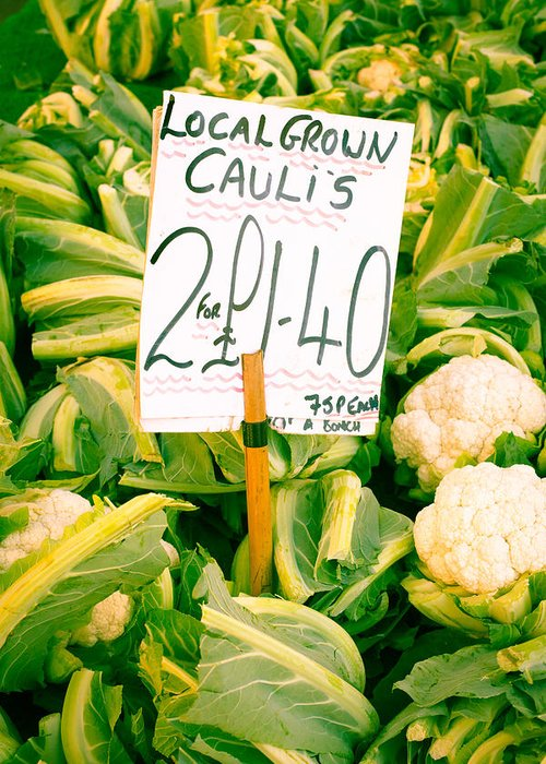 Abundance Greeting Card featuring the photograph Cauliflower by Tom Gowanlock