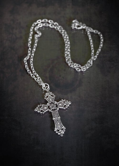 Necklace Greeting Card featuring the photograph Celtic Cross by Joana Kruse