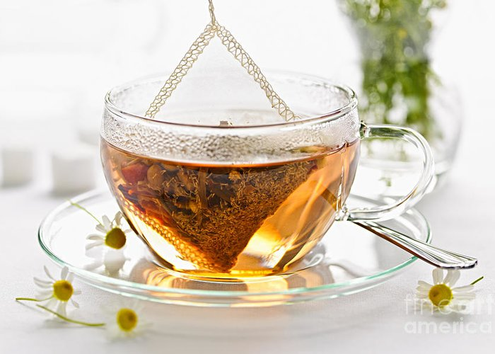Beverage Greeting Card featuring the photograph Chamomile Tea by Elena Elisseeva