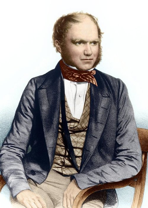 Charles Darwin Greeting Card featuring the photograph Charles Darwin, British Naturalist by Sheila Terry