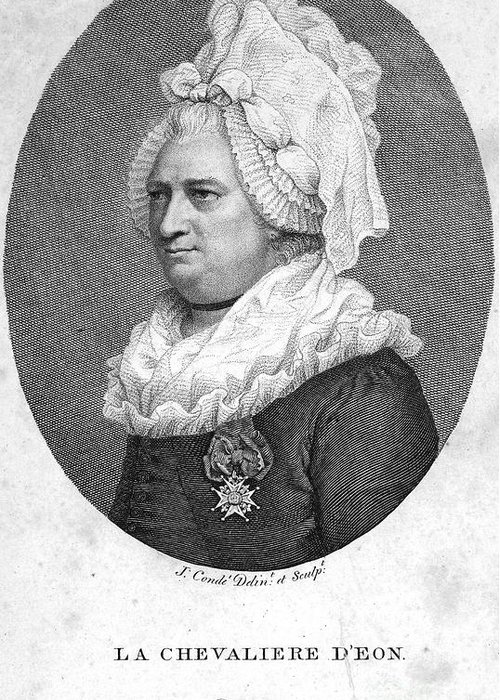 1791 Greeting Card featuring the photograph Charles Deon De Beaumont by Granger