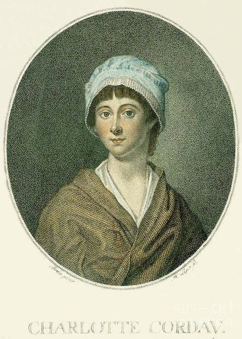 18th Century Greeting Card featuring the photograph Charlotte Corday by Granger