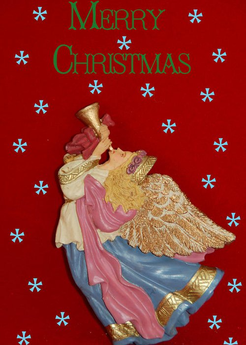 Christmas Card Greeting Card featuring the photograph Christmas Angel by Aimee L Maher Photography and Art Visit ALMGallerydotcom