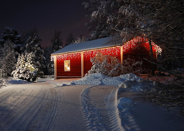 Christmas Greeting Card featuring the photograph Christmas House by Roman Rodionov